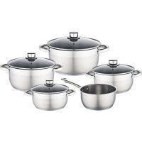 BAUMALU 341979 Batterie 9 pieces inox - Tous feux dont induction