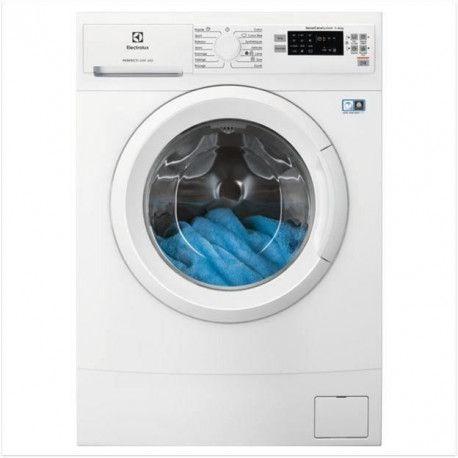 ELECTROLUX - EW6S1043NDU - Lave linge frontal Slim - 4kg - 1000 trs/min - A+ - Blanc