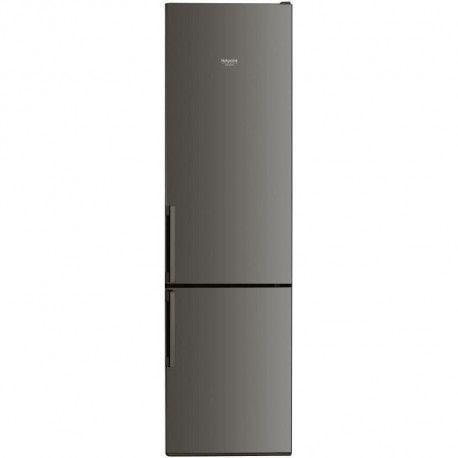 HOTPOINT - H9A2ESBH- Refrigerateur combine - 368L 257L + 111L - Froid brasse - A++ - L59,5cm x H201,1cm - Graphite