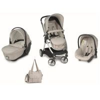 NEOBABY Trio My Town - Poussette modulable 4 en 1 - Beige