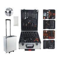 MANUPRO Valise aluminium multi outils 999 accessoires en chrome vanadium et acier