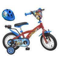 PATPATROUILLE Velo 12 + Casque - Enfant - Rouge et bleu