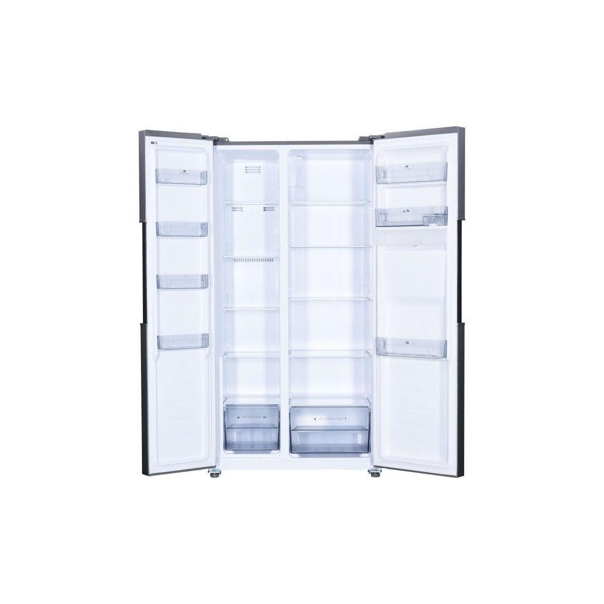 Refrigerateur Americain Faible Largeur continental edison refrigerateur americain 433l 288l + 145l-total no frost  - display led-distributeur deau - profondeur 60 cm