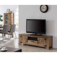 CAMPAGNE Meuble TV classique decor noyer clair - L 154 cm