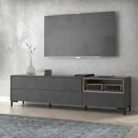 GALACTIQUE Meuble TV 3 tiroirs - 182,6 x 49,5 x 41,4 cm