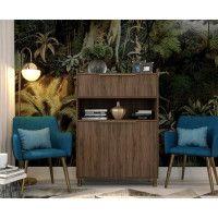 GABY Buffet Haut decor bois - 2 Portes - L 90 cm