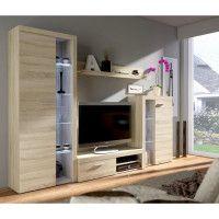 RUMBA Meuble TV contemporain decor chene sonoma - L 120 cm