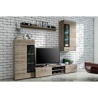 TANGO Meuble TV contemporain melamine decor bois - L 176 cm