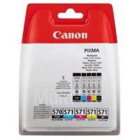 CANON Pack 5 Cartouches couleurs CLI-571 BK/C/M/Y + PGI-570 PGBK - 4 couleurs + noir pigmente
