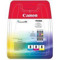 CANON Pack 3 Cartouches CLI-8 C/M/Y - 3 couleurs - pour impression photo