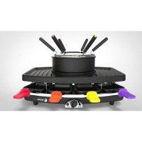 FAGOR FG816 Appareil combine 3 en 1 raclette + fondue + grill - 1100W - capacite 1,5L - 8 poelons + 6 pics a fondue