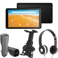 Tablette Tactile 10.1 16Go Double Cameras +3 Accessoires Support voiture + Chargeur + Casque