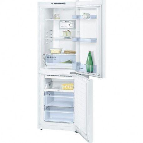 BOSCH KGN33NW30 - Refrigerateur congelateur bas - 279L 192+87 - Froid No Frost - A++ - L 60cm x H 176cm - Blanc