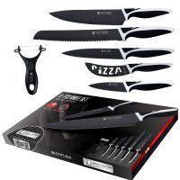 Imperial Collection IM-DOT5: Ensemble de 6 Couteaux de Cuisine Revêtus de Marbre Noire