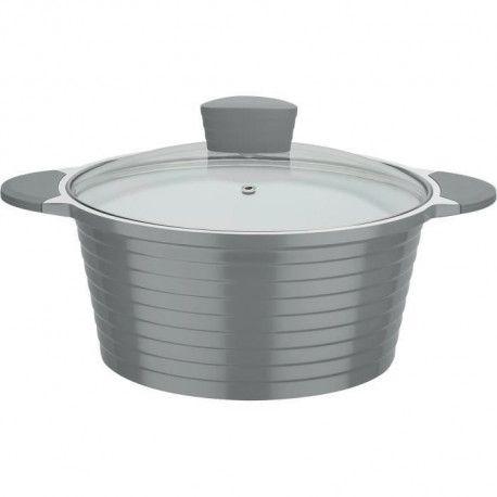 GSW Marmite revetement en ceramique Greblon a induction Bolero Grey - 28 cm