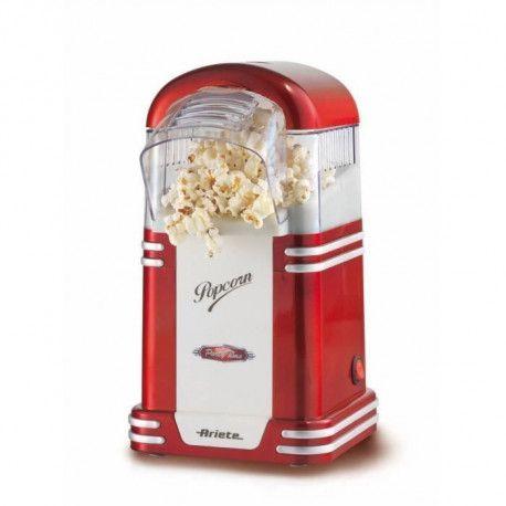 ARIETE 2954 Appareil a Popcorn - 1100 W - Design annees 50 - Rouge