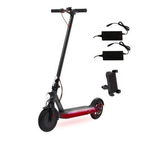 ECOGYRO GScooter S9 XBOOST - Trottinette electrique - 2 Chargeurs + support smartphone