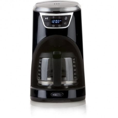BORETTI B410 Cafetiere programmable - 1000W - 1,5 L : 12 tasses - Noir