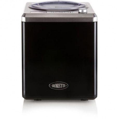 BORETTI B100 Sorbetiere automatique 2 L - 180 W - Avec compresseur - Temperatures -18 ?C a -35 ?C - Noir