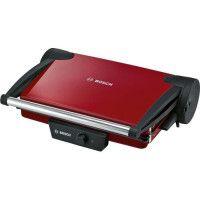 BOSCH TFB4402V - Grille-viande multifonctions compact - 1800 W - Grande surface de grill 32,8 x 23,8 cm - Rouge