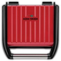 George Foreman 25040-56 Grill Barbecue Electrique 1650W Familial, Viande, Panini, Sandwich, Revetement Antiadhesif - Rouge
