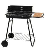 SO MAGIC Barbecue a charbon de bois Manilla en acier chrome - 53 x 38 cm