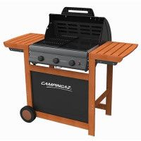 CAMPINGAZ Barbecue a gaz Adelaide 3 Woody L - Acier emaille - 45x57 cm