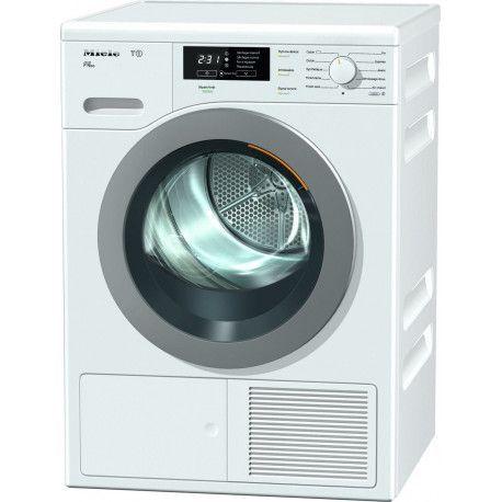 Miele T1 TKB 640 WP Sèche-linge électrique à ouverture frontale - 8 kg - Gris/Blanc