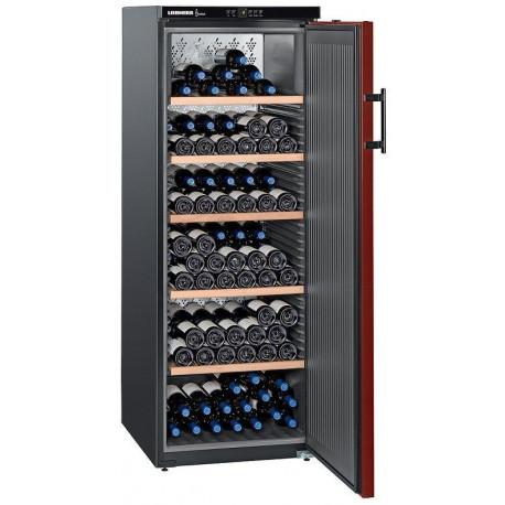 Liebherr Vinothek WK 201 Cave à vin pour 200 bouteilles - 60 cm - 377 L - Noir/Bordeaux