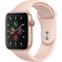 Apple Watch Series 5 Cellular 44 mm Boitier en Aluminium Or avec Bracelet Sport Rose - M/L