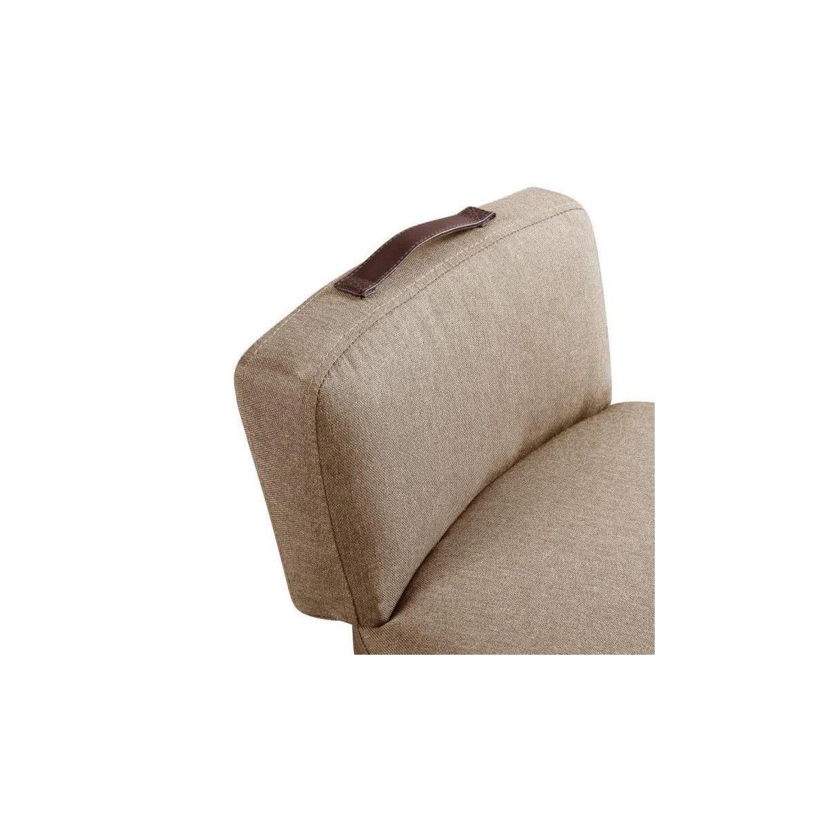 LILO1 Fauteuil pieds metal Tissu taupe L 44 x P 45 x H 63 cm