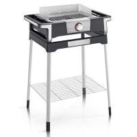 BARBECUE GRIL SUR PIEDS 2500W TH LED GRILLE INOX PARE VENT 41,5X24CM SEVERIN - 8116