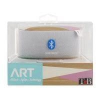 TNB Art Scandi Enceinte nomade bluetooth - 5W - Blanc / Bois / Rose / Turquoise