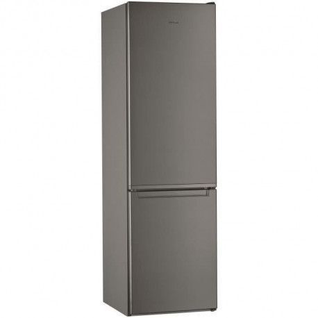 WHIRLPOOL WLF9121OX Refrigerateur 372 L 261 + 111 - Froid statique - Posable - Classe A+ - 59,5 x 201,1 cm - Inox