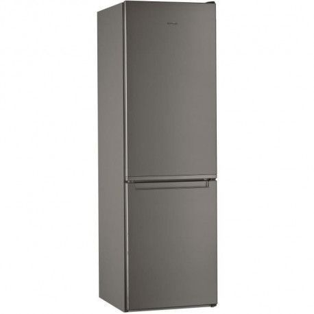 WHIRLPOOL WLF8001OX Refrigerateur 339 L 228 + 111 - Froid statique - Posable - Classe A+ - 59,5 x 188,8 cm - Inox
