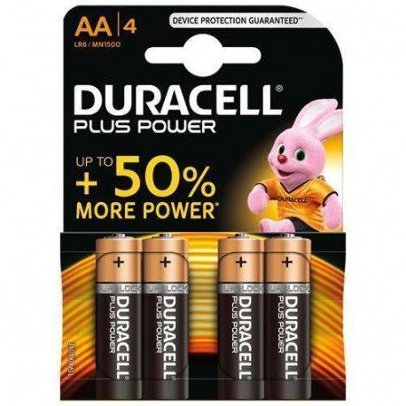 Duracell PILES ALCALINES Blister 4 * AA - LR6 DURACELL - MN1500B4