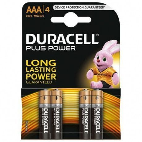 Duracell PILES ALCALINES Blister 4 * AAA - LR03 DURACELL - MN2400B4