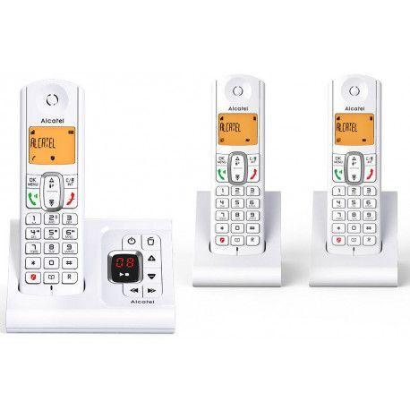 Alcatel Téléphone sans fil ALCATEL F 630 VOICE TRIO GREY