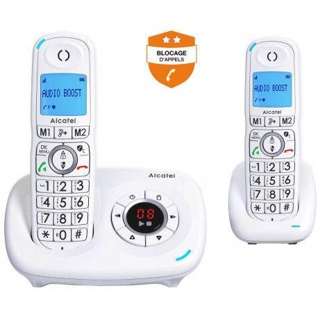 Alcatel Téléphone sans fil ALCATEL XL 585 VOICE DUO BLANC