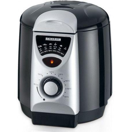 SEVERIN FR 2408 - Friteuse - 840 W - 950 ml - Noir/Argent