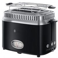 Russell Hobbs Retro 21681-56 Classic - Grille-pain - 2 tranche - 2 Emplacements - Noir ultra brillant