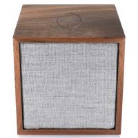 Tivoli Cube Bois/Gris - Enceinte Bluetooth