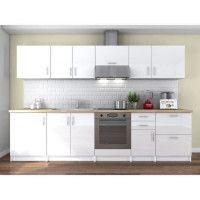 OBI Cuisine complete L 300 cm - Blanc laque brillant