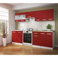 ULTRA Cuisine complete avec plan de travail L 2m40 - Rouge mat
