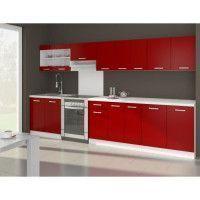 ULTRA Cuisine complete avec plan de travail L 3m20 - Rouge mat