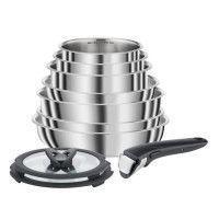 SEB COMPACT Batterie de cuisine 10 pieces Inox Tous feux dont induction L953SA04