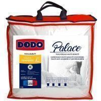 DODO Couette temperee Percale Anti-Acariens PALACE - 140 x 200 cm - Blanc