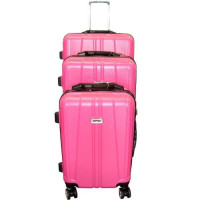 Lot de 3 valises S,M,L Fushia