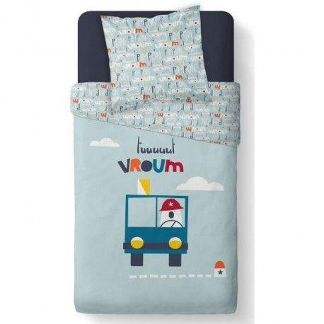 TODAY Parure de couette Vroum - Coton - 140 x 200 cm