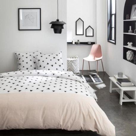 TODAY Parure de couette Sunshine 2.17 - 100% Coton - 220 x 240 cm - Rose et blanc